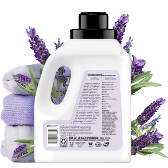 Back of Pack Love Home and Planet Concentrated Laundry Detergent Lavender & Argan Oil 50oz