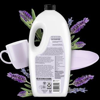 Back of Pack Love Home and Planet Dishwasher Detergent Gel Lavender & Argan Oil