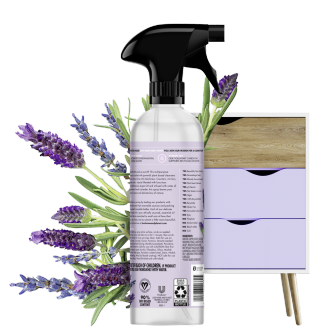 Back of Pack Love Home and Planet Multi-surface Cleaner Lavender & Argan Oil