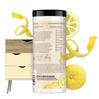 Back of Pack Love Home and Planet Multi-surface Cleaning Wipes Citrus Yuzu & Vanilla