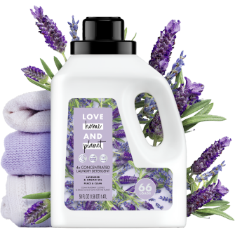 Front of Pack Love Home and Planet Concentrated Laundry Detergent Lavender & Argan Oil 50oz