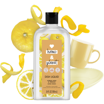 Front of Pack Love Home and Planet Dish Liquid Citrus Yuzu & Vanilla