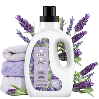 Front of Pack Love Home and Planet Fabric Softener Lavender & Argan Oil