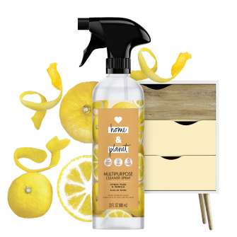 Front of Pack Love Home and Planet Multi-surface Cleaner Spray Citrus Yuzu & Vanilla