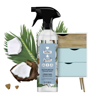 Front of Pack Love Home and Planet Multi-surface Cleaner Coconut Water & Mimosa Flower