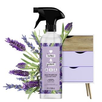 Front of Pack Love Home and Planet Multi-surface Cleaner Lavender & Argan Oil