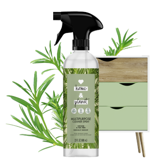 Front of Pack Love Home and Planet Multi-surface Cleaner Vetiver & Tea Tree Oil
